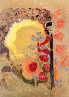 The Athenaeum - Visionary Head (Odilon Redon - ) Henri Fantin Latour, Odilon Redon, Post Impressionism, Motif Floral, Art Auction, Painting Inspiration, Kitsch, Les Oeuvres, Painting & Drawing