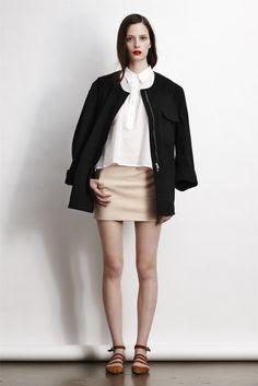 white shirt  pink skirt