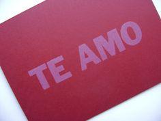 i <3 u greeting card
