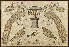 A large Roman mosaic panel. Circa 4th-5th Century A.D.