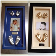 3d hands and feet casts in frame www.firsttreasures.co.uk