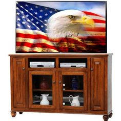 AmericanHeartland Deluxe TV Stand Finish: Green