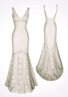Buy Ivory cotton lace mermaid wedding dress-HuLu