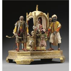 A rare and magnificent group of crib figures Naples, mid-eighteenth century   lot   Sotheby's