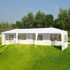 10 X 30 Outdoor Canopy Party Wedding Tent Color White Green Model 30 X10 Ft Three Side Wall Material Patio Tents Canopy Outdoor Wedding Canopy Outdoor