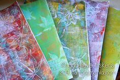 StampingMathilda: Gelli Prints with Real Leaves