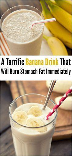 A Terrific Banana Drink That Will Burn Stomach Fat Immediately #banana #drink #weightloss #diet