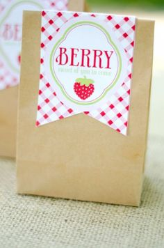 Strawberry party bag