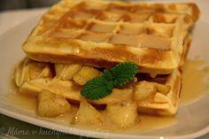 Křupavé vafle (od 1 roku) | Máma v kuchyni Breakfast, Food, Waffles, Essen, Morning Coffee, Meals, Yemek, Eten