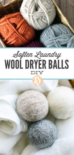 Ditch the toxic dryer sheets with homemade dryer balls. Super easy to make. No crafty gene needed! Coconut Oil Lotion, Homemade Coconut Oil, Natural Cleaning Recipes, Natural Cleaning Products, Household Cleaning Tips, Cleaning Hacks, Eco Friendly Cleaning Products, Wool Dryer Balls, Food Print