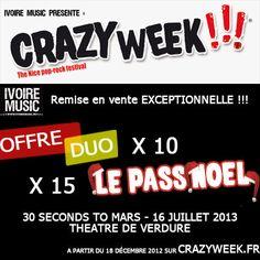 http://www.ivoiremusic.fr/crazyweek/