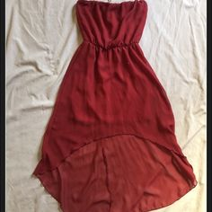 Deep red high low dress High low dress Forever 21 Dresses High Low