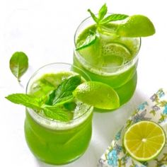 Gorgeously green and refreshingly delicious bubbly lemonade—there's nothing like this cooler!