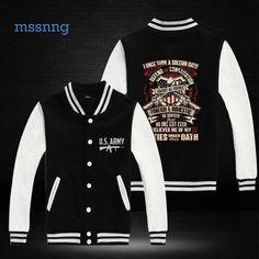 New Fashion Brand Clothing Baseball Jacket US.army Men Sweatshirt  Jackets Casual Jacket DY16 1234