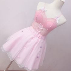 Pink lace Bowknot Condole Belt Vest/briefs Two-piece ❤ Pinned by Cindy Vermeulen. Please check out my other 'sexy' boards. Harajuku Fashion, Kawaii Fashion, Lolita Fashion, Cute Fashion, Pastel Outfit, Pink Outfits, Mode Outfits, Fashion Outfits, Mode Kawaii