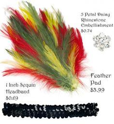 diy flapper headband supplies1 e1366140827341 DIY   Flapper Headband