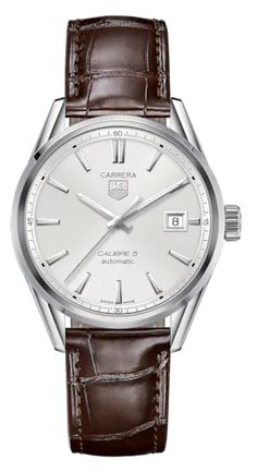 Cool Watches, Watches For Men, Men's Watches, Wrist Watches, Watches Online, Carrera Watch, Tag Heuer Carrera Calibre, Brown Leather Strap Watch, Mens Watches Leather
