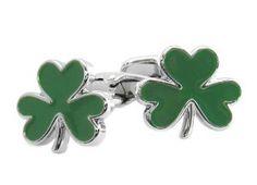 Green 3 Leaf Clover Cufflinks Cuff-Daddy. $33.99