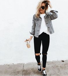 17 Best Vans noir images | Casual outfits, Outfit