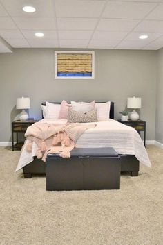Our Basement Spare Bedroom Makeover - The Cofran Home Room Makeover, Bedroom Makeover, Basement Decor, Guest Bedroom Remodel, Basement Remodeling Plans, House Remodeling Plans, Bedroom Makeover Diy, Remodel Bedroom, Interior Design Bedroom