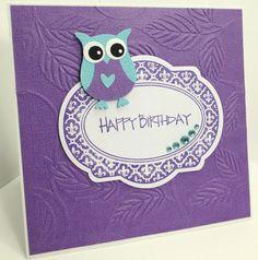 Jenfa Cards: Birthday Owl