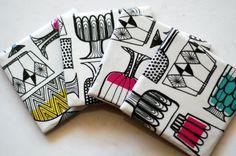 Marimekko coasters Kippis Pattern, via Etsy.