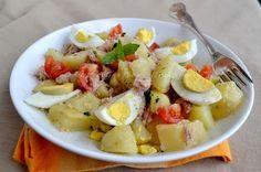 Insalata di tonno patate e uova