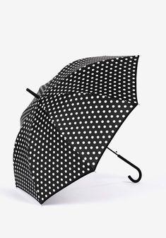 Guarda-chuva Dobrável Bolinhas_70008476000-T/U Fashion, Polka Dot, Rain Fall, Block Prints, Moda, Fashion Styles, Fashion Illustrations