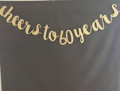 This banner is put together with black & white bakers twine. I have several color options available refer to the 2nd. photo. The letters are approx.4-6 inches high. This banner is sure to add glitz to your party. If you dont see something in my shop that you like please send me a message and I can make you a custom order. PLEASE NOTE: ALL BANNER ARE DONE IN LOWER CASE LETTERS ONLY  For more fun banners please visit my other Etsy shop at. urenvited.etsy.com