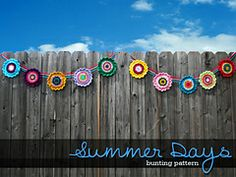 Ravelry: Summer Days Bunting pattern by Janet Jameson