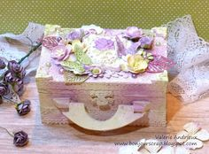 Shabby chic altered box with Art Anthology and Prima Marketing products