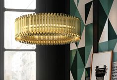 #Delightfull #Matheny suspension #lamp round  Ideal for a classic living room with a modern touch,