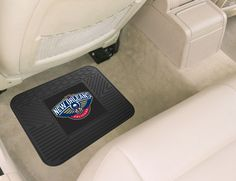 """NBA - New Orleans Pelicans Utility Mat - Boast your team colors with utility mats by FANMATS. High quality and durable rubber construction with your favorite team's logo permanently molded in the center. Non-skid backing ensures a rugged and safe product. Due to its versatile design utility mats can be used as automotive rear floor mats for cars, trucks, and SUVs, door mats, or workbench mats.FANMATS Series: UTILITYTeam Series: NBA - New Orleans PelicansProduct Dimensions: 14""""x17""""Shipping…"""