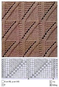 This Pin was discovered by ren Lace Knitting Stitches, Lace Knitting Patterns, Cable Knitting, Lace Patterns, Easy Knitting, Knitting Designs, Stitch Patterns, Crochet Yarn, Knit Lace