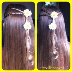Braids with curls inspired by babesinhairlandblog