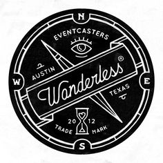 "I like the emblem and the use of a ribbon-style for the ""wanderless"" but I do think this is a bit busy. I like a simpler design."