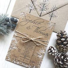 Wedding Gift Poem, Christmas Wedding Invitations, Wedding Place Names, Handmade Wedding Invitations, Rustic Invitations, Personalized Wedding, Snowflake Invitations, Wedding Letters, Wedding Wishes