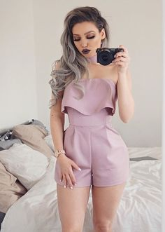 This stunning playsuit from is life! Loving this color and design, isn't it so cute? Casual Outfits, Summer Outfits, Fashion Outfits, Womens Fashion, Fashion Trends, Ootd Fashion, Fashion Ideas, Spring Summer Fashion, Autumn Fashion