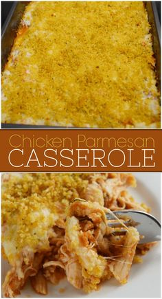 Easy Crowd Meals, Easy Weeknight Meals, Easy Meals, Crowd Recipes, Work Meals, Chicken Parmesan Casserole, Easy Chicken Parmesan, Baked Chicken, Best Potluck Dishes