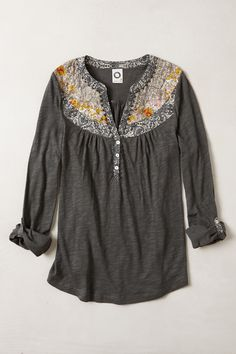caroline henley - anthropologie.com Interesting possibility for upcycling a men's shirt