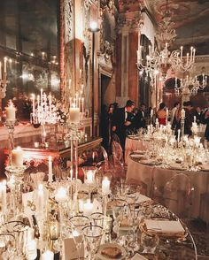 Reception Table, Wedding Reception, Baroque Furniture, Beautiful Architecture, High Tea, Abandoned Places, Beautiful World, Venetian, Chandeliers