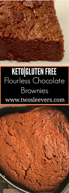 Five Ingredient Keto Flourless Chocolate Brownies Five Ingredient Keto Flourless brownies are moist, delicious, and have 3 gms of carbs per serving. These taste just like the real thing! Two Sleevers (low carb sweets chocolate) Flourless Chocolate Brownies, Keto Brownies, Low Carb Chocolate, Keto Fudge, Flourless Desserts, Chocolate Torte, Chocolate Treats, Chocolate Truffles, Chocolate Chips