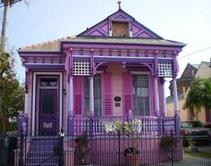 Purple House, Marigny, New Orleans, Lov it Love it Love it - A lot of Magic here