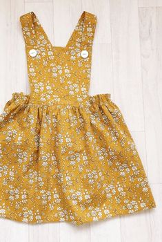 Handmade Liberty Print Pinafore Dress | HandmadeClothingLTD on Etsy #KidsFashionDIY