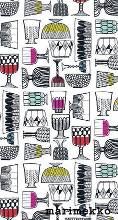 マリメッコ/食器2 iPhone壁紙| ただひたすらiPhoneの壁紙が集まるサイト
