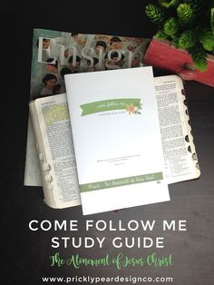 Come Follow Me Study Guide March   The Atonement of Jesus Christ   LDS   Come Follow Me   Young Women   Free Printable   Prickly Pear Design Co.