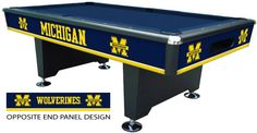 Best place to buy a University of Michigan pool table Related UM Wolverines items below University of Michigan pool table cover Universi...