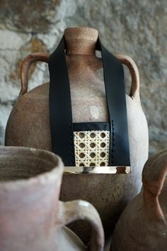 Black necklace with rattan Greek Sandals, White Sandals, Open Toe Sandals, Leather Ring, Black Leather, Cheap Sandals, White Quartz, Black Necklace, Toe Rings
