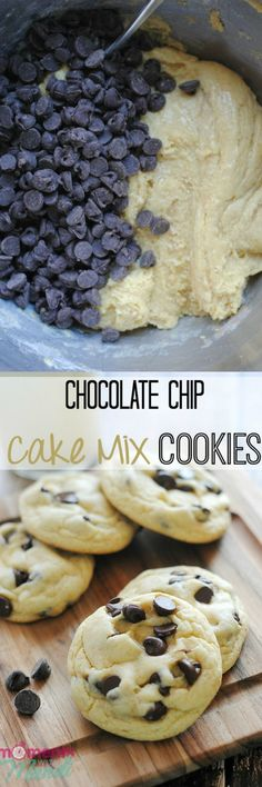 Cake Mix Chocolate Chip Cookies.