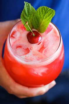 Sparkling cherry lemonade.